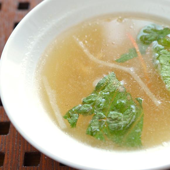 簡単にしっとり軟らか! 鶏ムネ肉のあえもの・スープ・おかゆさん(鶏と野菜のスープ)