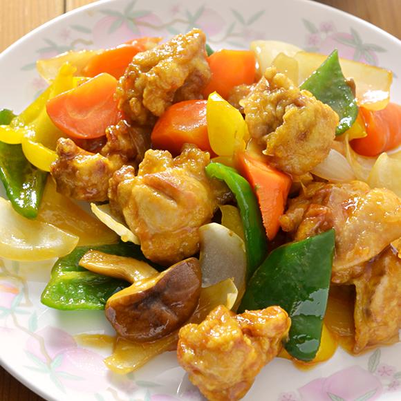 五色野菜たーっぷり酢鶏