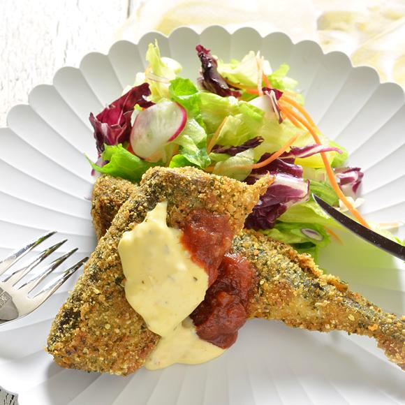 秋刀魚の香味パン粉焼き