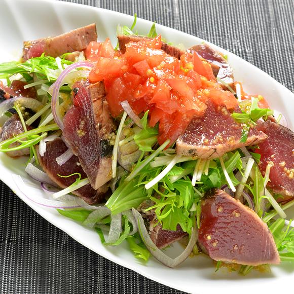 初鰹のカルパッチョ風サラダ