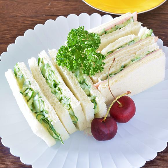 サンドイッチの基本きゅうりサンド、ハムチーズサンド