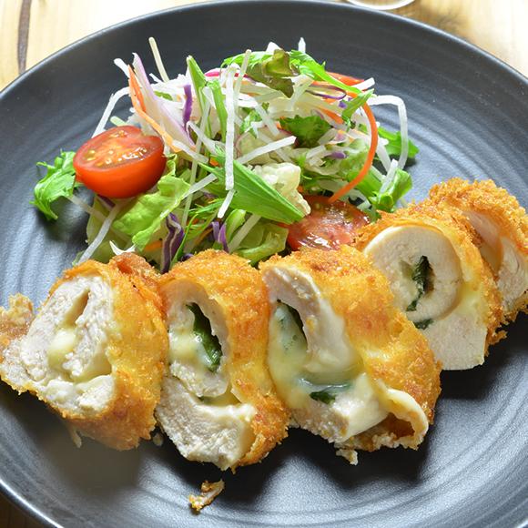 レシピ チーズ チキンカツ チキン・コルドン・ブルー(鶏むね肉のチーズはさみ揚げ) 小川