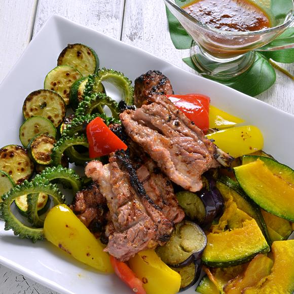 おうちでBBQ!スペアリブと夏野菜のグリル