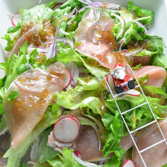 デパ地下風ラ・フランスと生ハムのサラダ