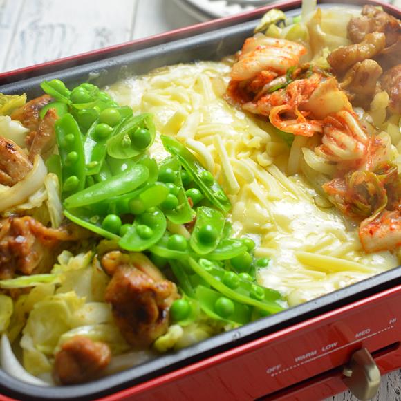 お野菜もりもり!子供と一緒に、チーズタッカルビ