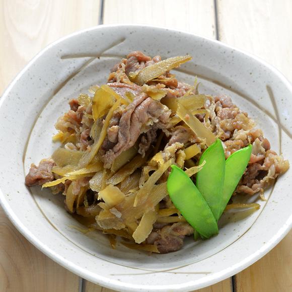 お米育ち豚とごぼうのしぐれ煮