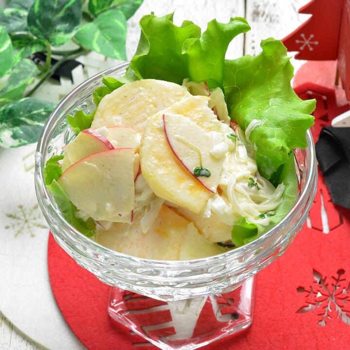 柿とりんごの冬サラダ