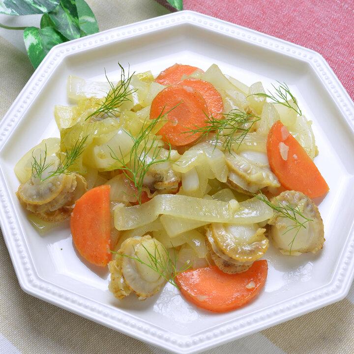 ホタテと野菜のにんにく炒め