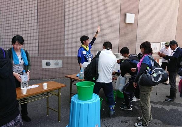 広島市安芸区災害ボランティアセンターの様子