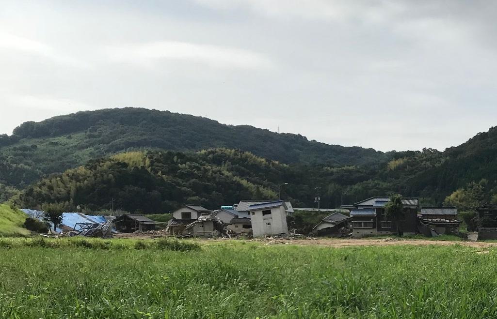 豪雨被害に見舞われた家屋(8/29撮影)