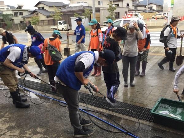 岡山県倉敷市 災害ボランティアセンター「サテライトやた」での様子(8/10撮影)