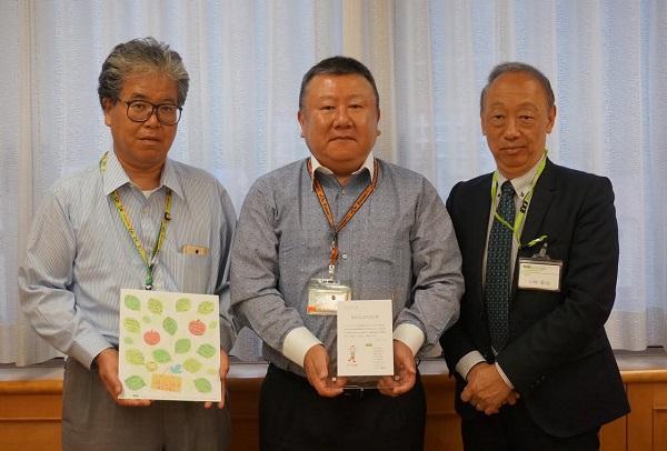左から JAにしうわ  濱田 部長  濱田 常務理事、コープデリ連合会 小林 副理事長