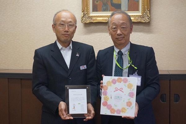 左から JA全農えひめ 小越 県本部長 、コープデリ連合会 小林 副理事長