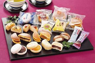 詰め合わせる和菓子の種類を変えました