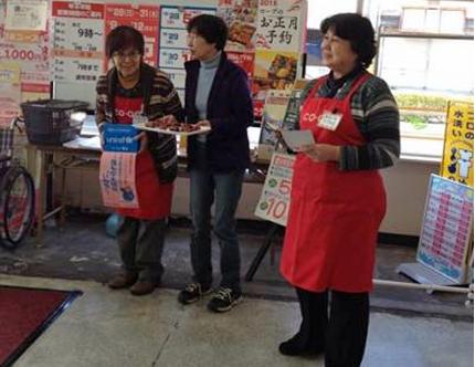 コープ東久方店(群馬県桐生市)で募金を呼びかけ(コープぐんま)